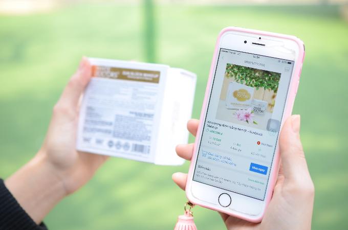 Thông tin về mỹ phẩm hiển thị sau khi quét mã vạch bằng app iCheck.