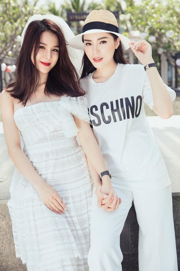 Diệp Lâm Anh và hoa hậu Kỳ Duyên chơi thân từ2 năm nay. Hoa hậu Việt Nam 2014 quý mến diễn viên Vệ sĩ Sài Gòn vì tính cách thẳng thắn, luôn bảo vệ bạn bè.