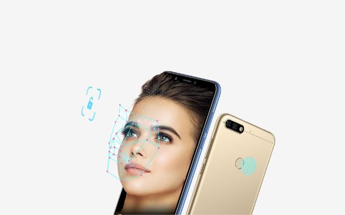 Honor 7C tích hợp tính năng mở khóa bằng công nghệ nhận diện khuôn mặt Face Unlock.
