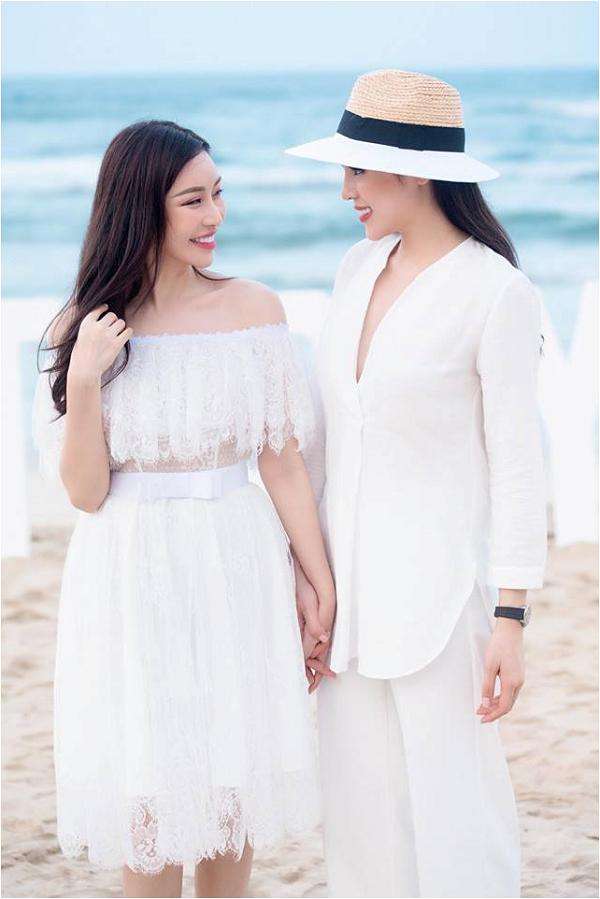 Hoa hậu Kỳ Duyên đọ sắc cùng Lam Cúc trong khung cảnh lãng mạn trên bãibiển Đà Nẵng.