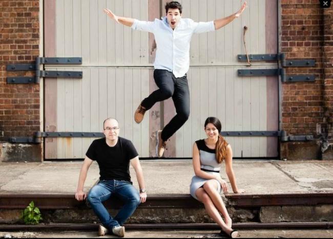 Ba nhà sáng lập Canva, từ trái sang phải: Cameron Adams, Cliff Obrecht và Melanie Perkins. Ảnh: Business Insider.