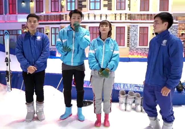 Vợ chồng Khởi My - Kelvin Khánh tiếp tục là người dẫn chương trình Gặp là chiến mùa 5 với chủ đề Trượt tuyết vào tối qua (2/5). Chương trình được phát sóng trực tiếptrên kênh V Việt Nam của V Live.