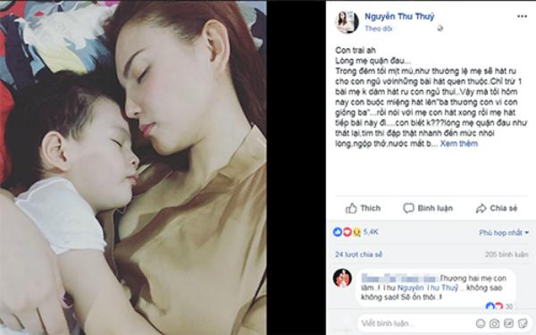 Dòng chia sẻ của nữ ca sĩ Thuy Thủy đang nhận được nhiều lời động viên của mọi người.