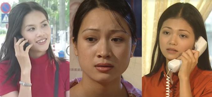 Nguyệt, Thương và Nhung là 3 nhân vật chính của phim Phía trước là bầu trời.