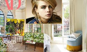 Căn nhà nhiều màu sắc của siêu mẫu Cara Delevingne
