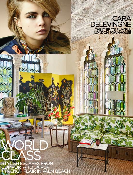 Sau khi mua ngôi nhà 2 tầng ở thủ đô London, Cara Delevingne đã thuê kiến trúc sư nổi tiếng Tom Bartlett để trang hoàng lại. Siêu mẫu 25 tuổi chia sẻ, cô rất thích tổ ấm mới của mình vì nó có trần cao, cửa sổ lớn nhưng cũng rất riêng tư và cổ điển.