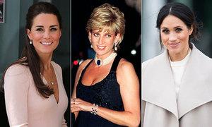 Điểm tương đồng trên gương mặt của Diana, Kate và Meghan