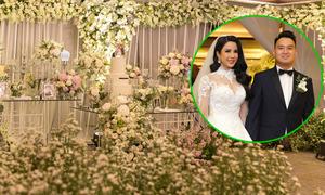 Vợ chồng Diệp Lâm Anh chi 1,3 tỷ đồng mua hoa trang trí tiệc cưới