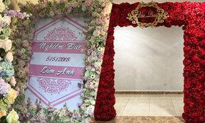 Đám cưới Diệp Lâm Anh trang hoàng chủ đạo bằng hoa hồng