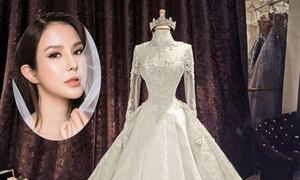 Hai chiếc váy cưới phong cách đối lập của Diệp Lâm Anh