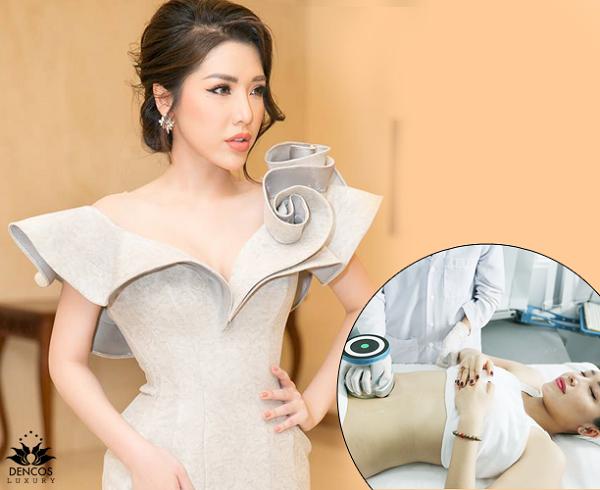 Á hậu Biển Khánh Phương khoe dáng vóc đẹp nuột nà sau liệu trình giảm mỡ UltraShape Pro tại Dencos Luxury.