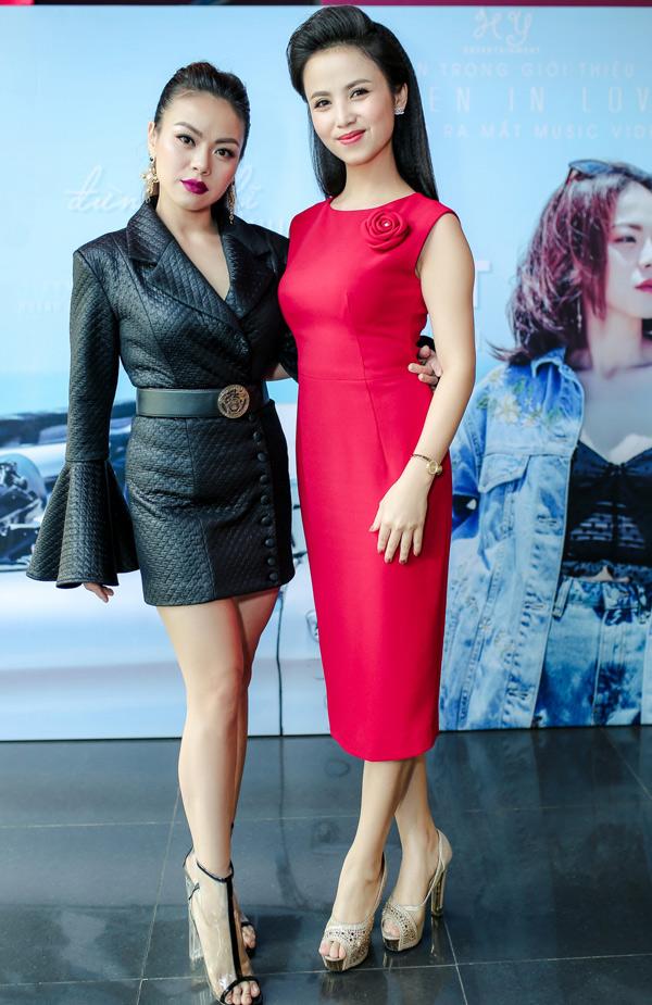MC Thanh Giang giúp giọng ca Vietnam Idol 2007 cầm trịch buổi ra mắt dự án Women in love và MV Đừng nghĩ mình là duy nhất.