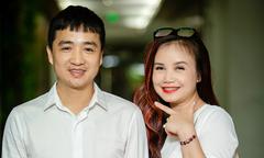Diễn viên Hoàng Yến được chồng kém tuổi tháp tùng đi sự kiện