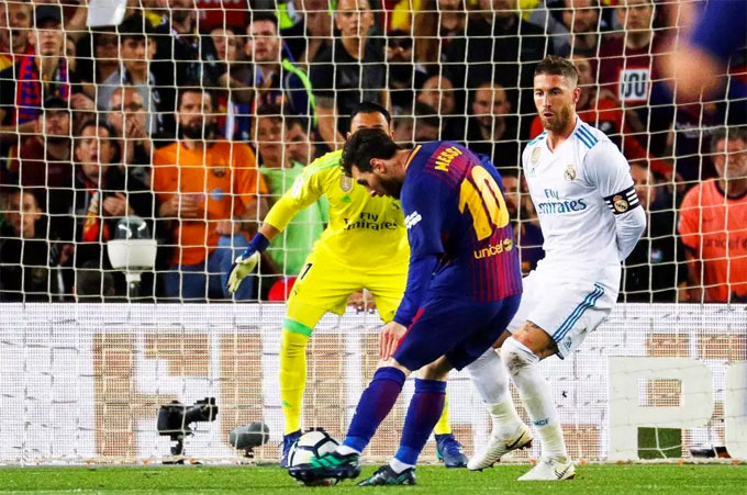 Messi đang dẫn đầu danh hiệu vua phá lưới La Liga với 33 bàn thắng. Ảnh: NN.