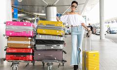 Hoa hậu H'Hen Niê lần đầu đi nước ngoài bằng máy bay
