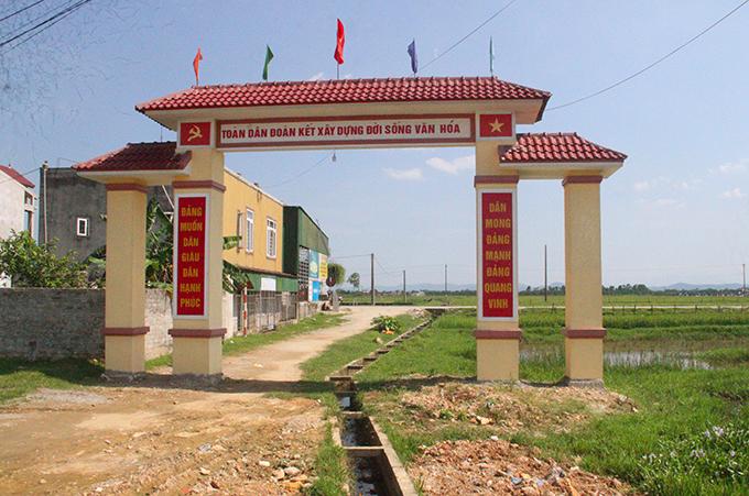 Cổng làng Bắc Bình. Ảnh: Hùng Lê