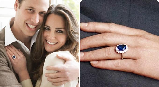 Cận cảnh chiếc nhẫn của Công nương Kate. Ảnh: Pinterest