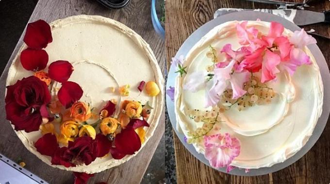 Đầu bếp Ptak thường làm những chiếc bánh từ một đến hai tầng đơn giản. Bánh do cô thực hiện dùng các nguyên liệu hữu cơ có lợi cho sức khoẻ và theo mùa. Ảnh: Instagram Violet by Claire Ptak.