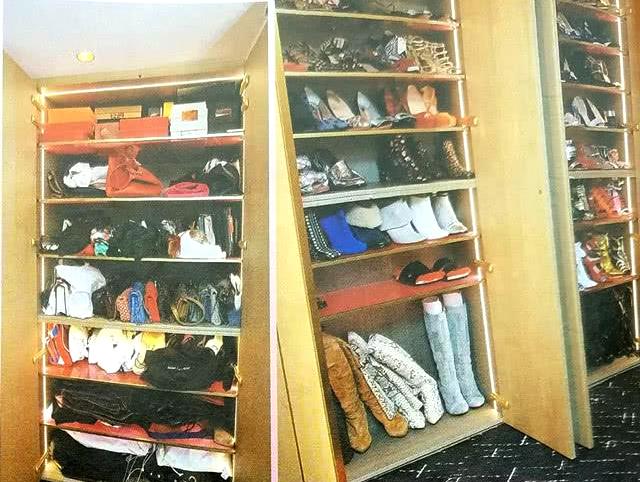 Tủ túi và giày của Quan Chi Lâm.