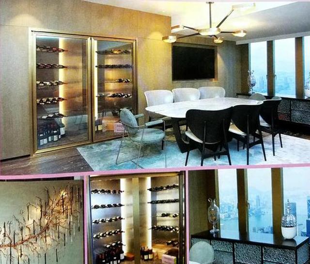 Tủ rượu vang của Quan Chi Lâm.