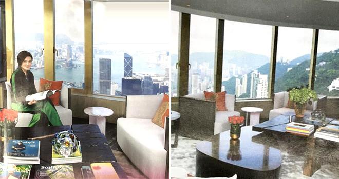 Phòng khách trong căn hộ của Quan Chi Lâm.Chia tay chồng, Quan Chi Lâm sống cùng hai chú chó thân thiết Coffee và Whiskey.