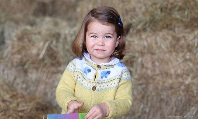 Để kỷ niệm sinh nhật lần thứ hai của Công chúa Charlotte, Điện Kensington đã đăng bức ảnh công chúa mặc áo khoác len màu vàng cũng được chụp bởi Công nương Kate.