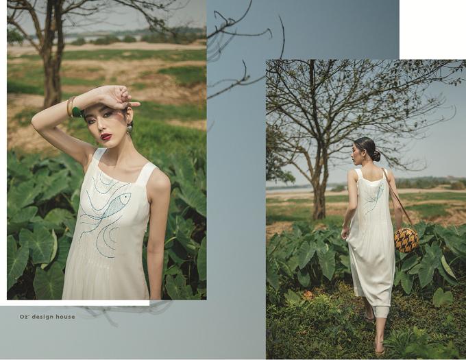 Các mẫu thiết kế với form dáng rộng, suông mang lại vẻ đẹp phóng khoáng cho người mặc.