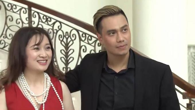Việt Anh và Thu Nga trong phim.