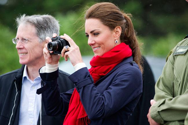 Kate có sở thích chụp ảnh từ khi còn là sinh viên.