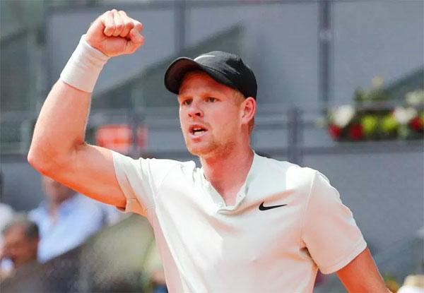 Trong khi đó Kyle Edmund, tay vợt đang xếp hạng 22 thế giới, phấn khích khi lần đầu hạ gục