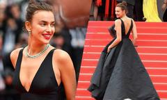 Irina Shayk diện đầm đen vẫn tỏa sáng trên thảm đỏ Cannes