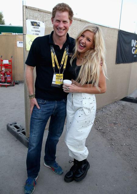 Harry và Ellie từng thân mật trong sự kiện polo hồi tháng 5/2016.