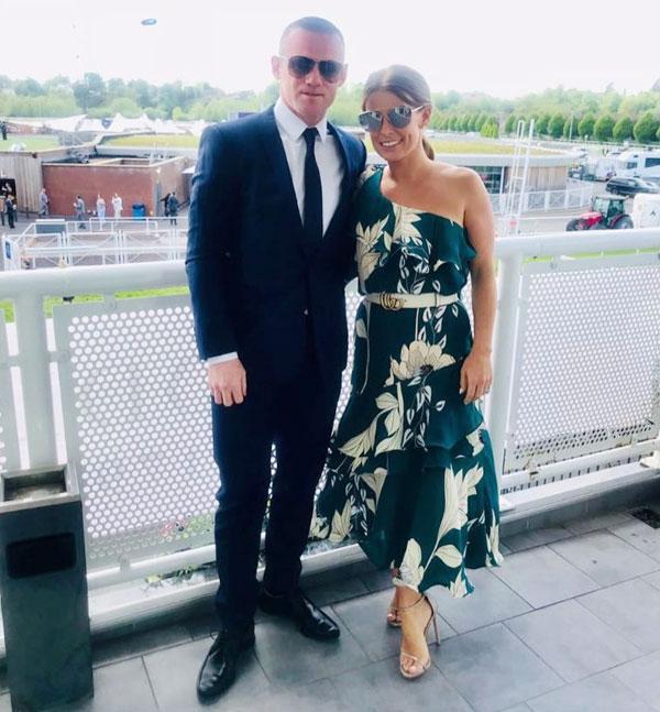 Vợ chồng Rooney cùng nhau tới trường đua ngựa Chester
