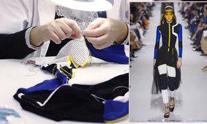 Mẫu jumpsuit trong bộ sưu tập xuân 2018 của Dior được chế tác như nào