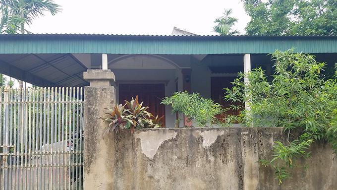 Căn nhà nơi bố mẹ Kiên sinh sống luôn đóng cửa từ khi Kiên gây ra vụ cướp. Ảnh: Hùng Lê