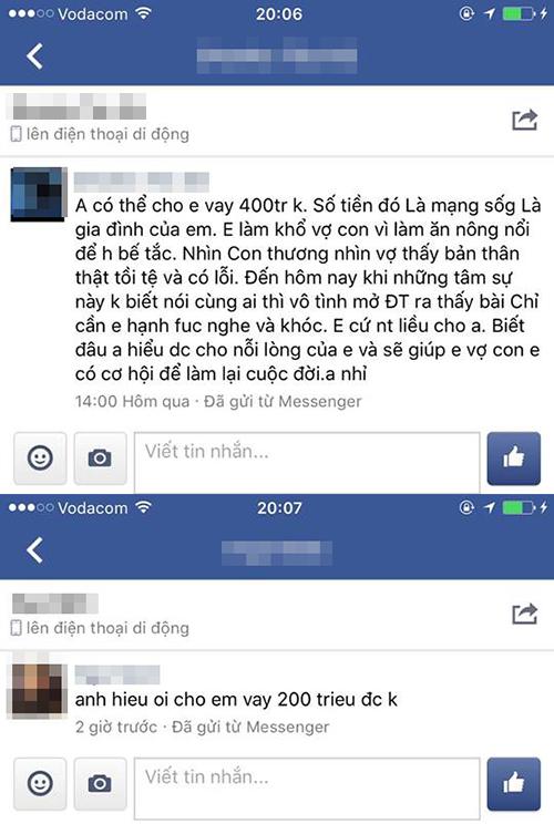 Hồ Quang Hiếu choáng khi fan nhắn tin vay tiền.