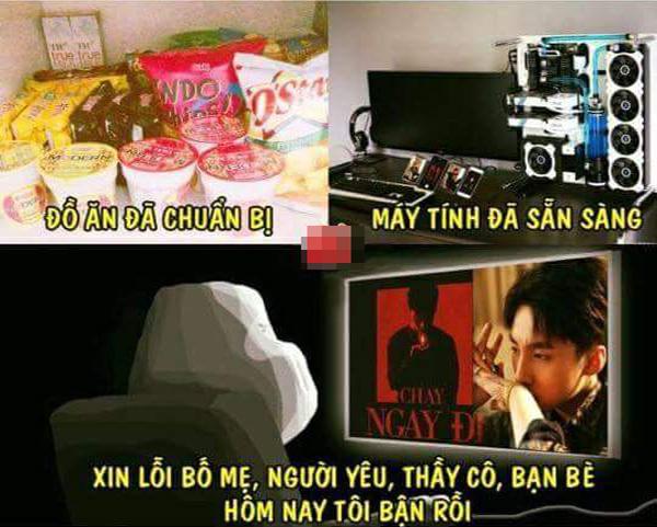 Một trang fanpage của cộng đồng Sky (tên fanclub của Sơn Tùng) chế ảnh, kêu gọi mọi người cày view cho MV mới của chàng ca sĩ gốc Thái Bình.