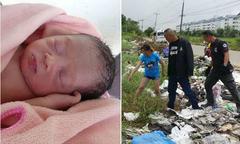 Bé gái sơ sinh được cứu từ đống rác bên đường