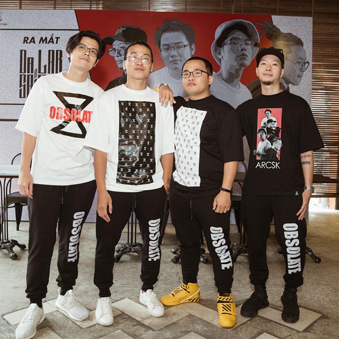 Nhóm Da LAB trong buổi ra mắt tại TP HCM.