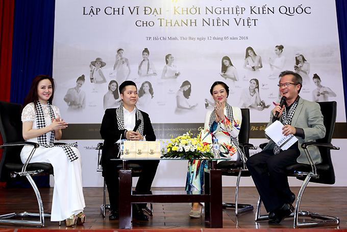 Hoa hậu Đàm Lưu Ly, Vy Oanh đi nói chuyện với sinh viên - 1
