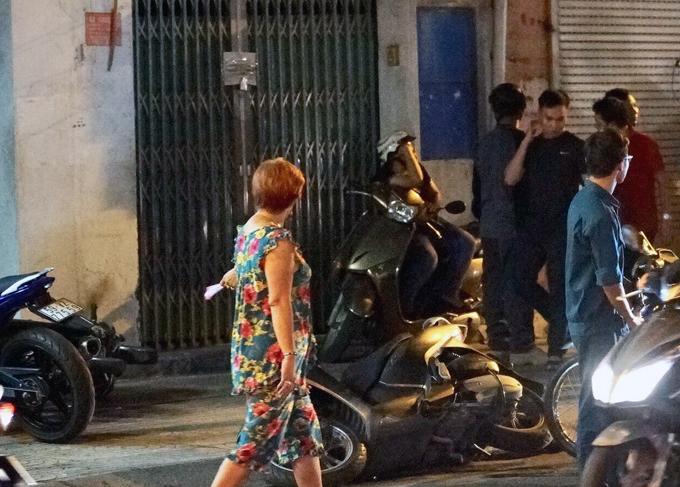 Hiện trường vụ việc trên đường Cách Mạng Tháng 8. Ảnh: Sơn Hòa