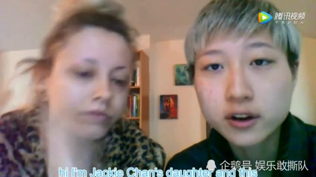 Trác Lâm nói rõ trongđoạn clip gửi lên mạng: Tôi là con gái của Thành Long.