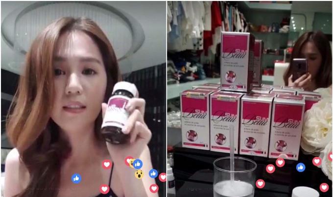 Ngọc Trinh livestream chia sẻ với khán giả và người hâm mộ.