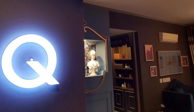 Công tác bật căn hộ Q House nằm giữa chữ Q.