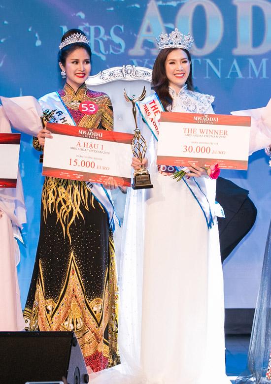 Phí Thùy Linh vượt mặt vợ cũ Phan Thanh Bình, đoạt vương miện Mrs Áo dài 2018 - 9