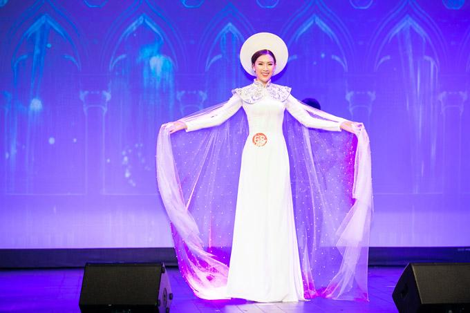 Phí Thùy Linh vượt mặt vợ cũ Phan Thanh Bình, đoạt vương miện Mrs Áo dài 2018 - 2