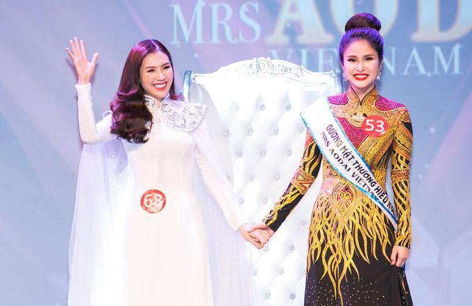 Phí Thùy Linh vượt mặt vợ cũ Phan Thanh Bình, đoạt vương miện Mrs Áo dài 2018 - 5
