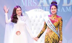 Phí Thùy Linh vượt vợ cũ Phan Thanh Bình, đăng quang Mrs Áo dài 2018