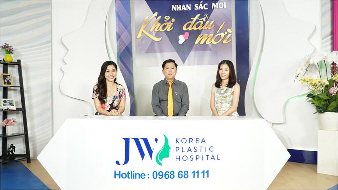 MC Anh Thơ, TS.BS Nguyễn Phan Tú Dung, quán quân người mẫu thời trang Nam Anh.