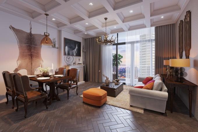 Nhiều du khách nước ngoài đến Việt Nam lại chọn căn hộ bài trí nội thất gỗtheo phong cáchretro để lưu trú ngắn ngày. Không gian sống làm khách phương xa gợi nhớ đến cuộc sốngsang trọng của người Hà Nội những năm 70.